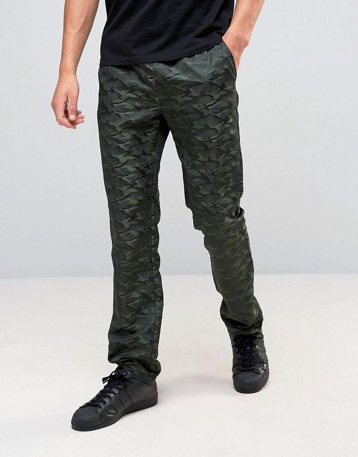 Get this Asos's straight trousers now! Click for more details. Worldwide shipping. ASOS Straight Trousers In Tonal Camo Design - Green: Joggers by ASOS, Soft-touch sweat, All-over print, Drawstring waistband, Side pockets, Straight fit - cut with a straight leg, Machine wash, 100% Polyester, Our model wears a W 32 and is 188cm/6'2 tall. ASOS menswear shuts down the new season with the latest trends and the coolest products, designed in London and sold across the world. Update your go-to…