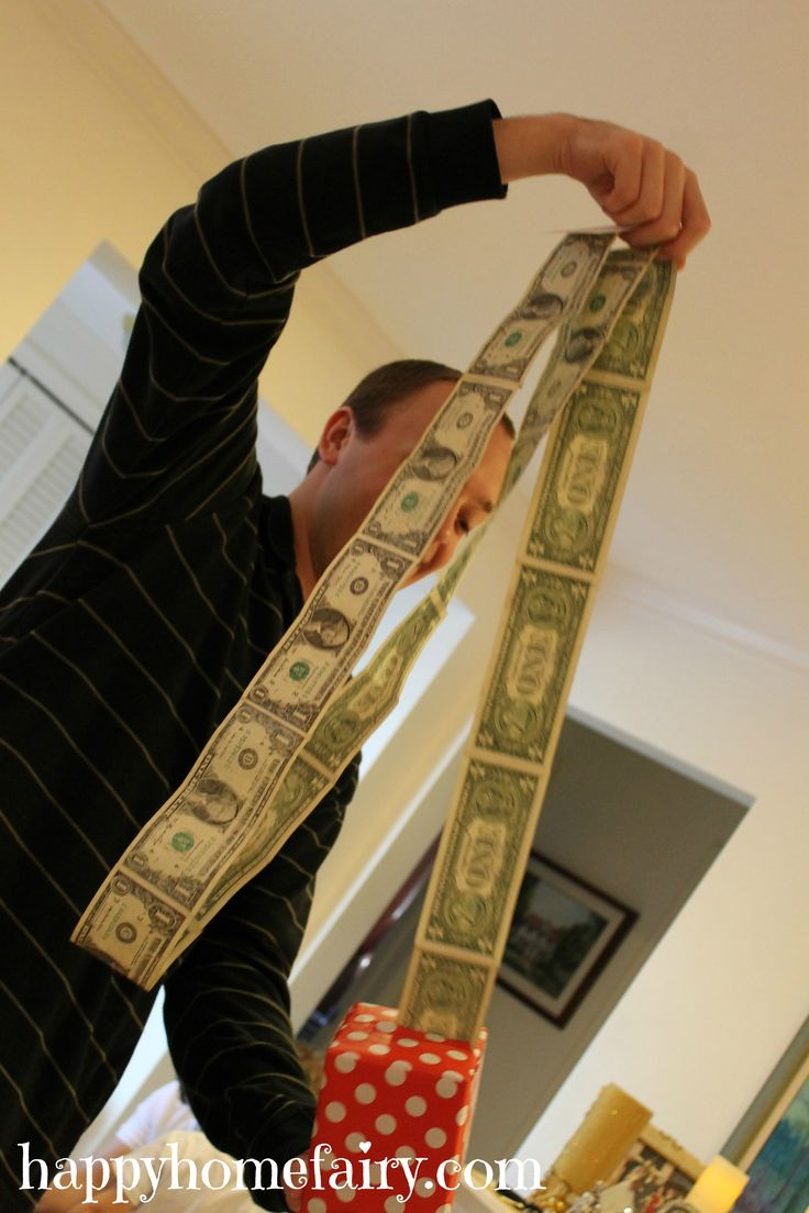 Tape a whole bunch of $1 bills and put them in a tissue box. The website describes it way better. :)