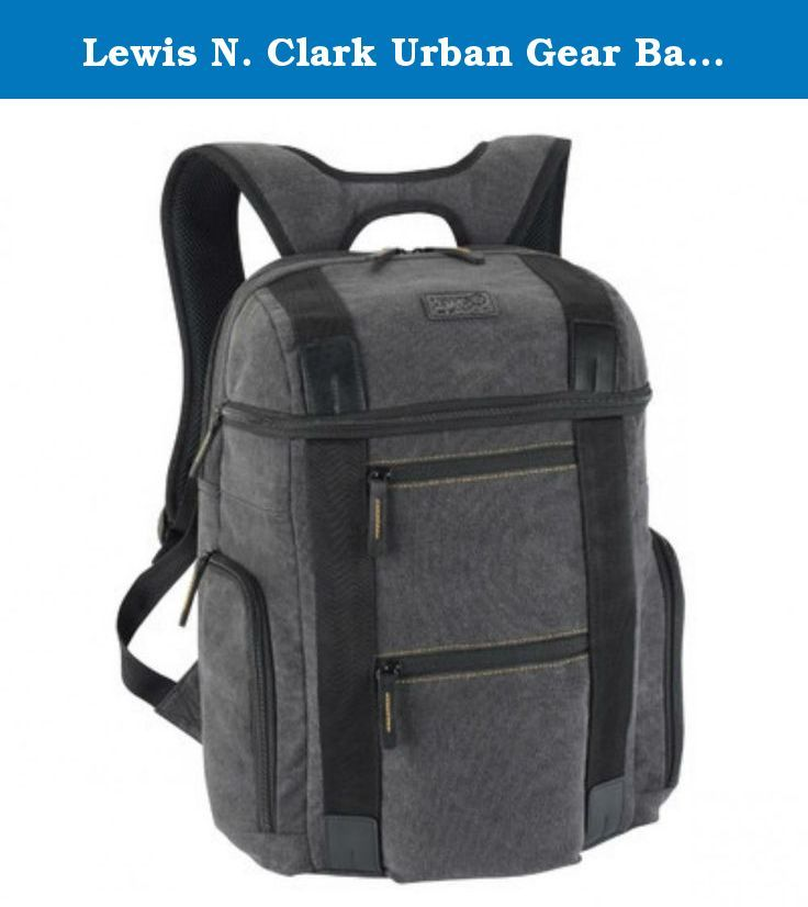 Lewis N. Clark Urban Gear Backpack, Grey, One Size. The stylish design, and rugged durability make this computer backpack a smart choice for organization on the go. Also includes a padded back compartment for your tablet or ipad.
