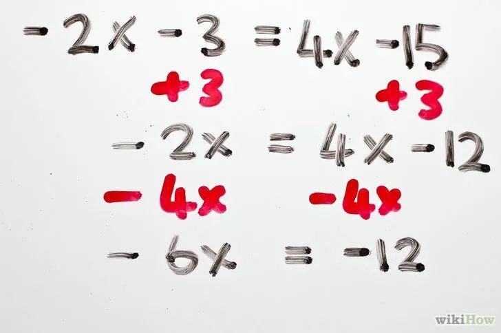 Aprende a resolver ecuaciones algebraicas de dos pasos vía es.wikihow.com