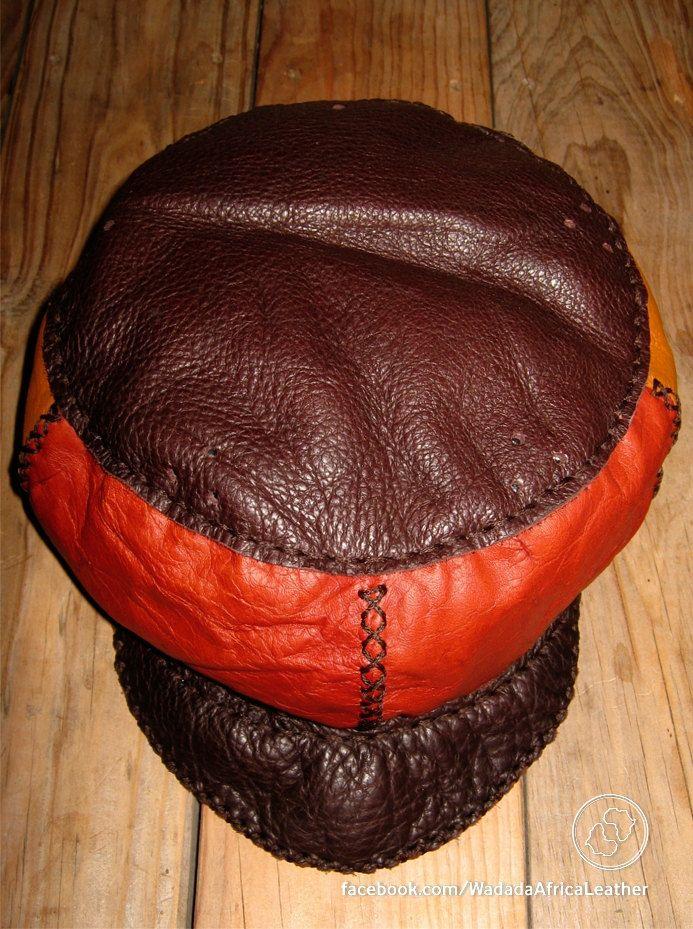 Handmade Upcycled Deerskin African Rasta Crown Reggae Festival Cap Burning Man Eco Friendly 24 Inch Leather Hat by WadadaAfrica on Etsy