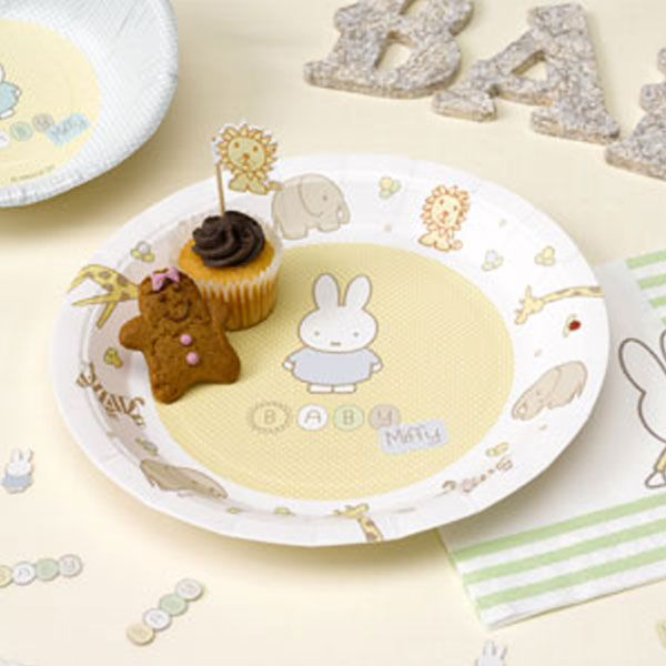 Baby Miffy Plates - Paper Party Plates £2.99 8pk