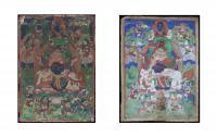 A mini Thangka depicting Vaisravana Mongolia, 19th-20th Century