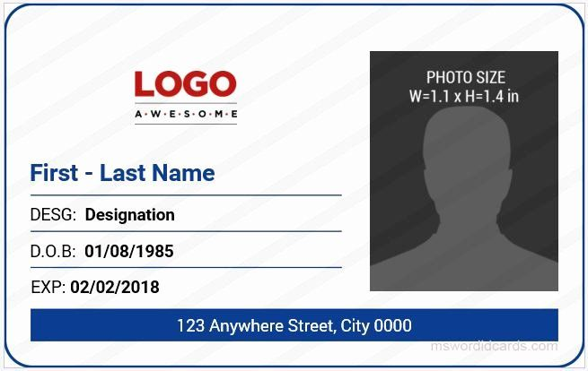 Insurance Card Template Word New 5 Best Fice Id Card Templates Ms Word Id Card Template Create Business Cards Card Templates