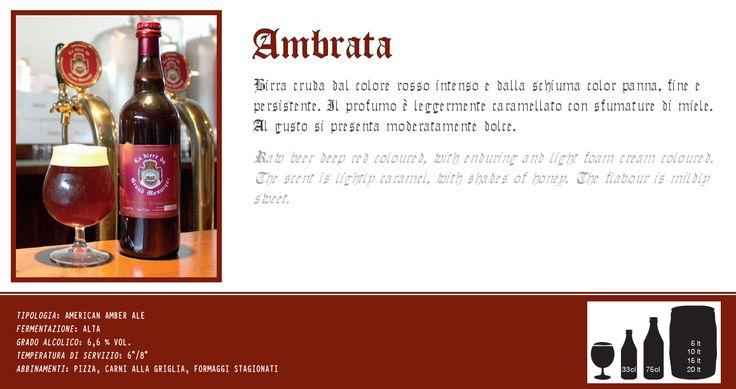 Birra ambrata artigianale cruda. Scopri e prova tutte le altre birre su: www.demarca.it