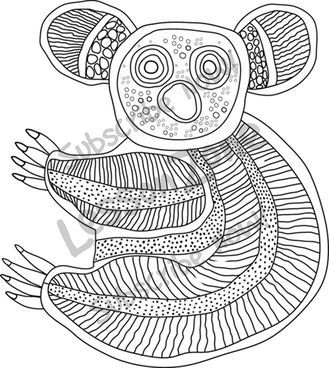 Aboriginal Art Coloring Pages