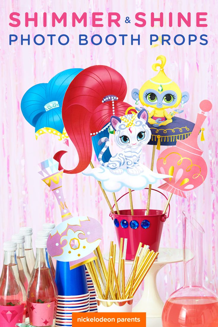 Shimmer and Shine Photo Booth Props | Shimmer and Shine ...