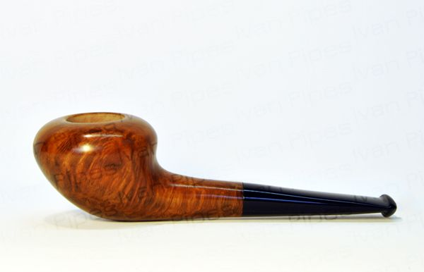 Rounded briar pipe