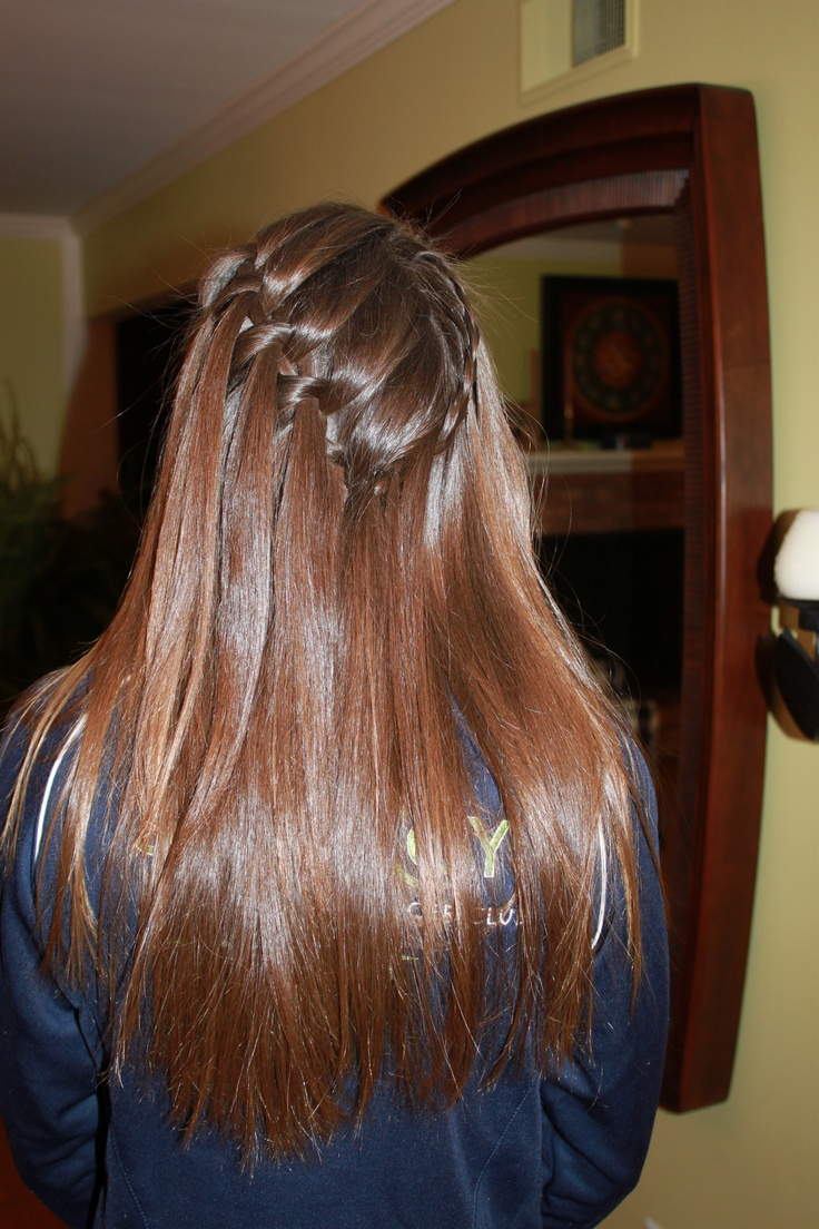 The waterfall braid! I love this…this lady at my moms salon did this for me!: Waterfalls Braids, Waterf Braids, Waterfall Braids