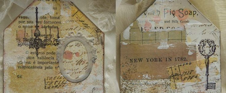 cardboard shapes collage shabby chic mixed media tattered angels 7gypsies architextures