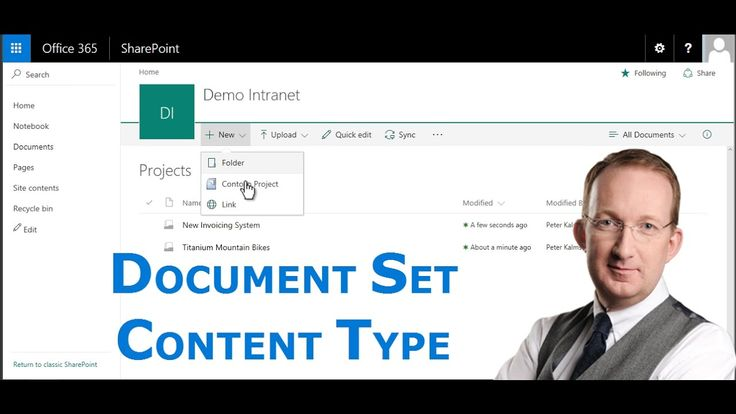 *SharePoint Document Set Content Type* With a document set content type connected to a SharePoint library, you can create and name several documents in one single process: http://www.kalmstrom.com/Tips/SharePoint-Online-Exercises/Document-Set-Content-Type.htm
