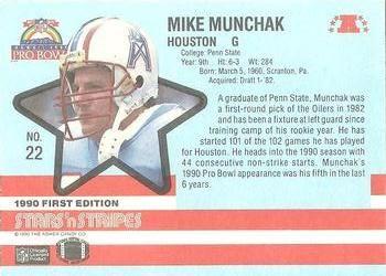 1990 Fleer Stars and Stripes #22 Mike Munchak Back