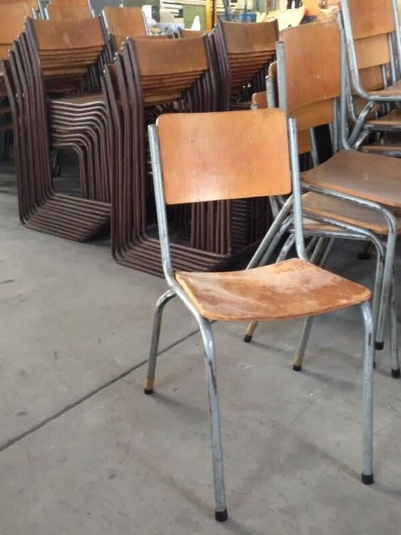cafechairs: MELBOURNE UNI. 39 #vintage school ply stacking #cafe #chairs