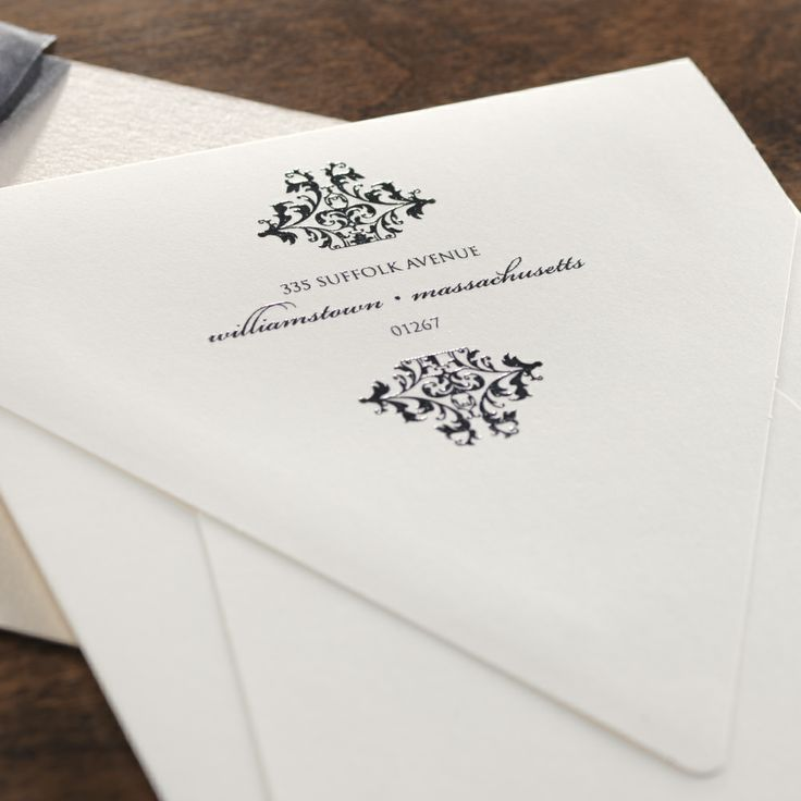 how to address wedding invitations inside envelope%0A Return Address with Beautiful Motif  Return AddressWedding  InvitationsEnvelopeMasquerade