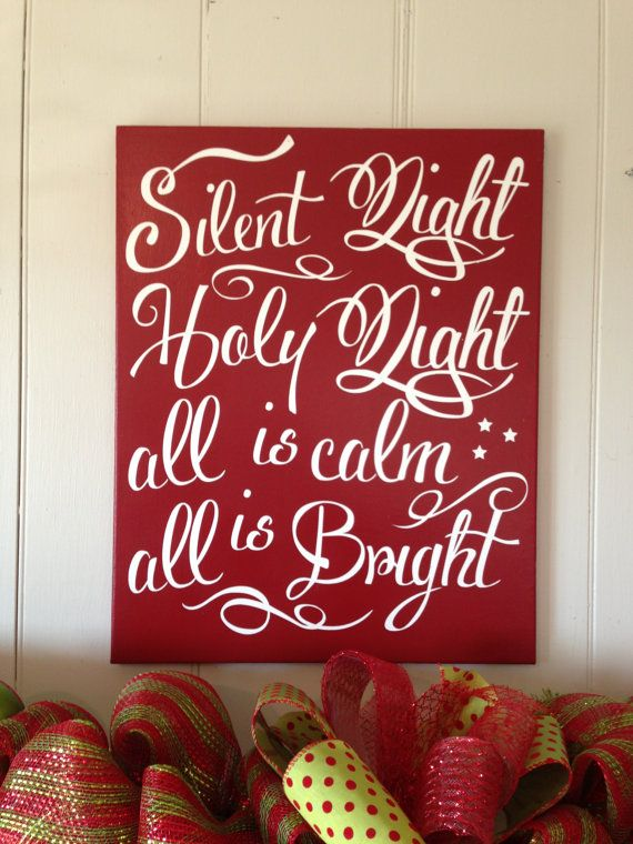 Christmas Sign Holiday Decoration Painted by TheBarnWoodSign