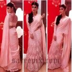 Mouni Roy in Payal Singhal half and half saree at Comedy Nights with Kapil