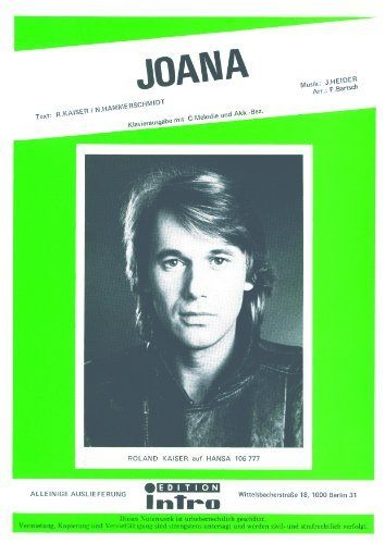 Joana (German Edition) by Norbert Hammerschmidt. $3.28. Publisher: Hansa Musik Verlag GmbH (July 18, 2012). 1 pages