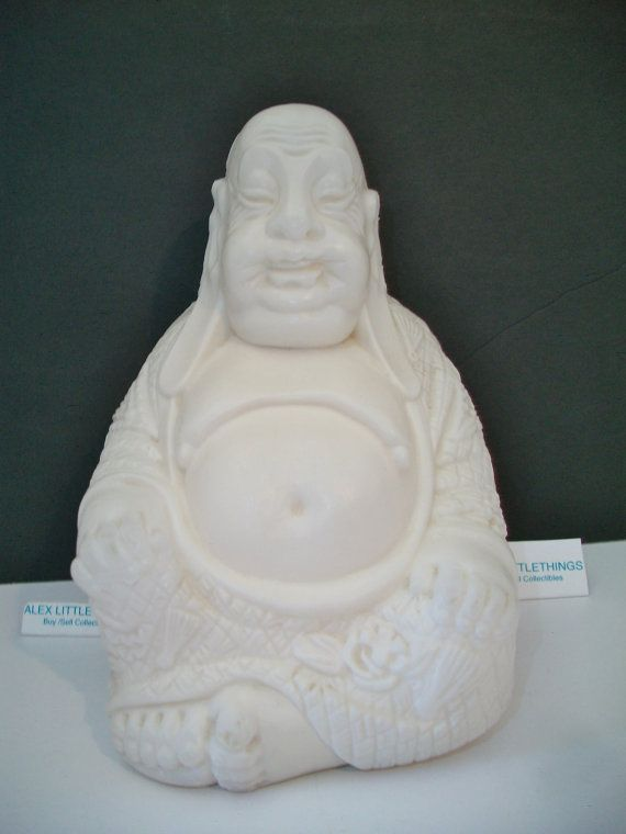 Vintage Plastic Buddha Figure Asian Home Decor by ALEXLITTLETHINGS