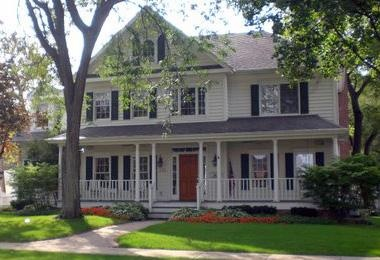 My dream home is a big white house with a big front porch for Homes with big porches