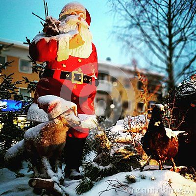 Christmas time in Boden, traditional town decoration