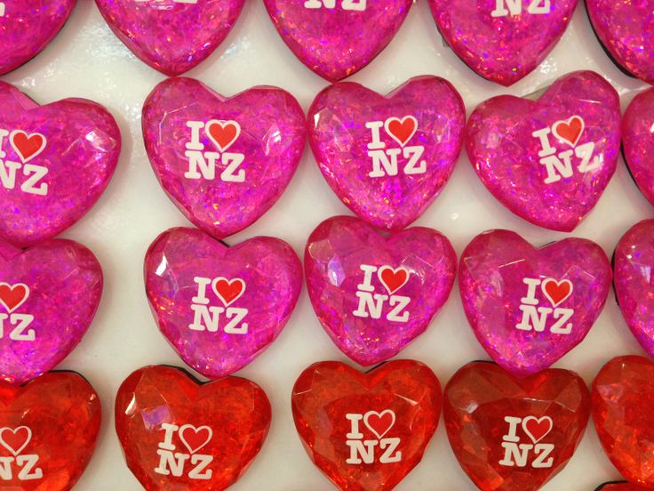 (taken on my iPhone) Saw these little 'I love NZ' pins at the Christchurch airport