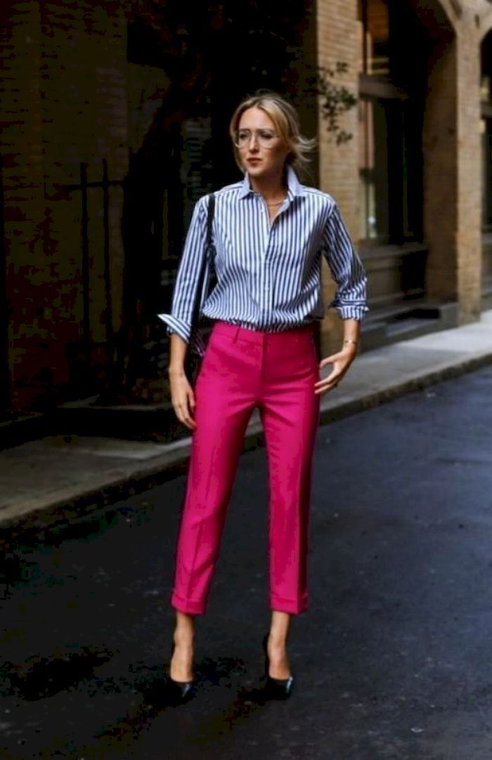 37 Pretty Work Attire with Trousers for Women