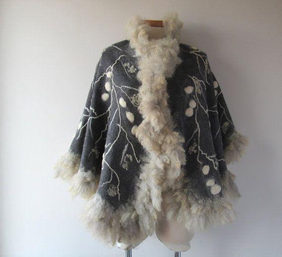 Gevilte sjaal echte bont grijs wikkel bont sjaal bont door galafilc