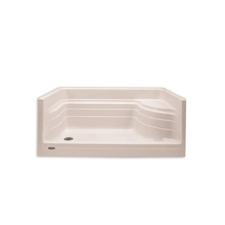 Jacuzzi Bonaire Almond Acrylic Shower Base (Common: 32-in W x 60-in L; Actual: 32-in W x 60-in L) with Right Drain
