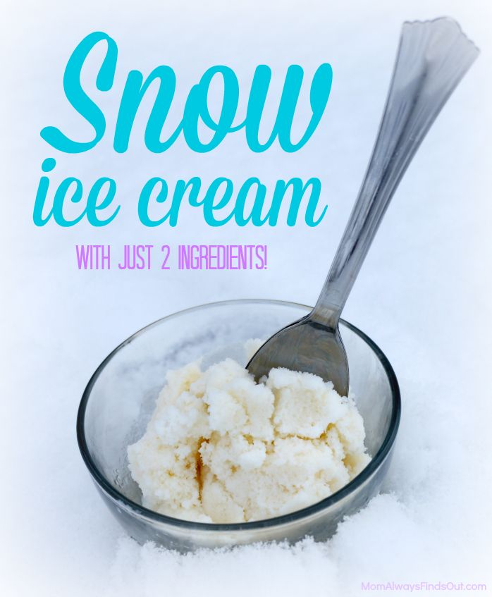 How to make ice cream out of snow. 2 ingredient Snow Cream. Fun winter activity for kids.