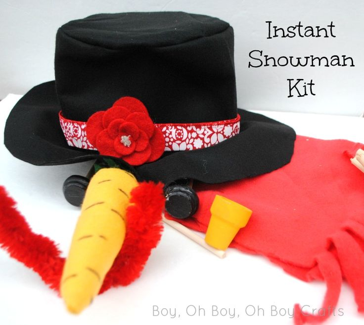 Instant Snowman Kit with free printable.