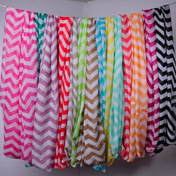 Chevron Infinity Fashion Scarf. I got two of these for Christmas from my sister. I want one in every color