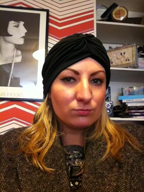Love turbans on a bad hair day!