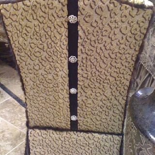 Crystal Buttons On This Custom Chair Made By Woodlands Fabrics U0026 Interiors  Are The Finishing Touch