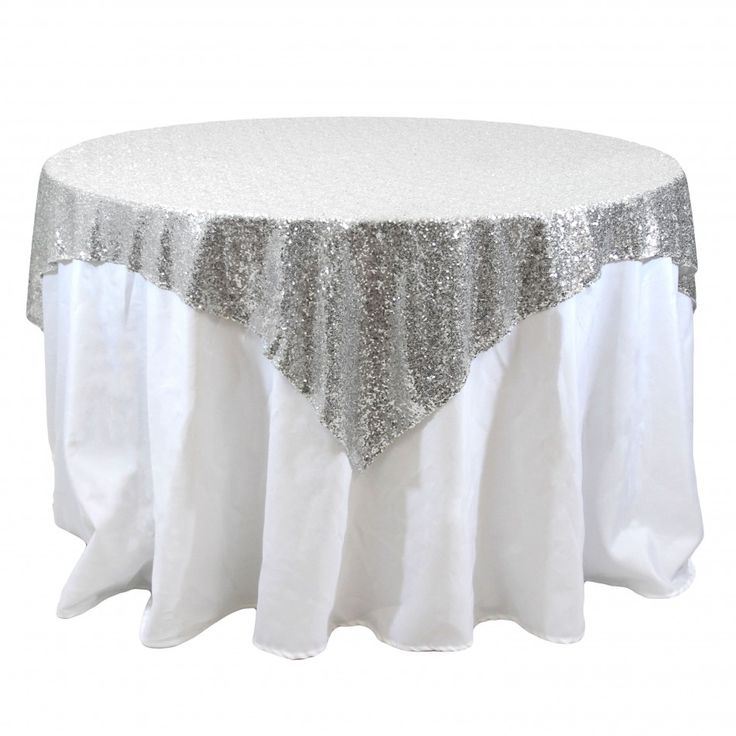 This Site Has Tons Of Wedding Stuff And Party Type Supplies   Silver Sequin  Overlay Over A Black Satin Tablecloth For The Reception Tables