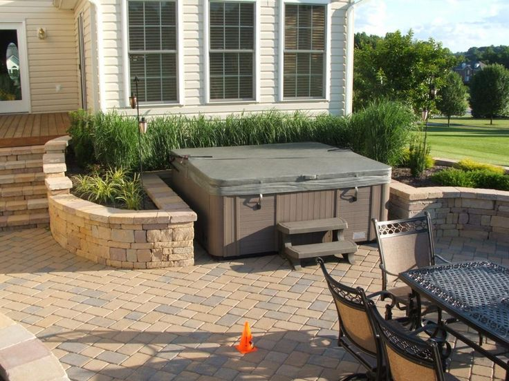 64 best images about hot tubs spas decks on pinterest for Garden hot tub designs