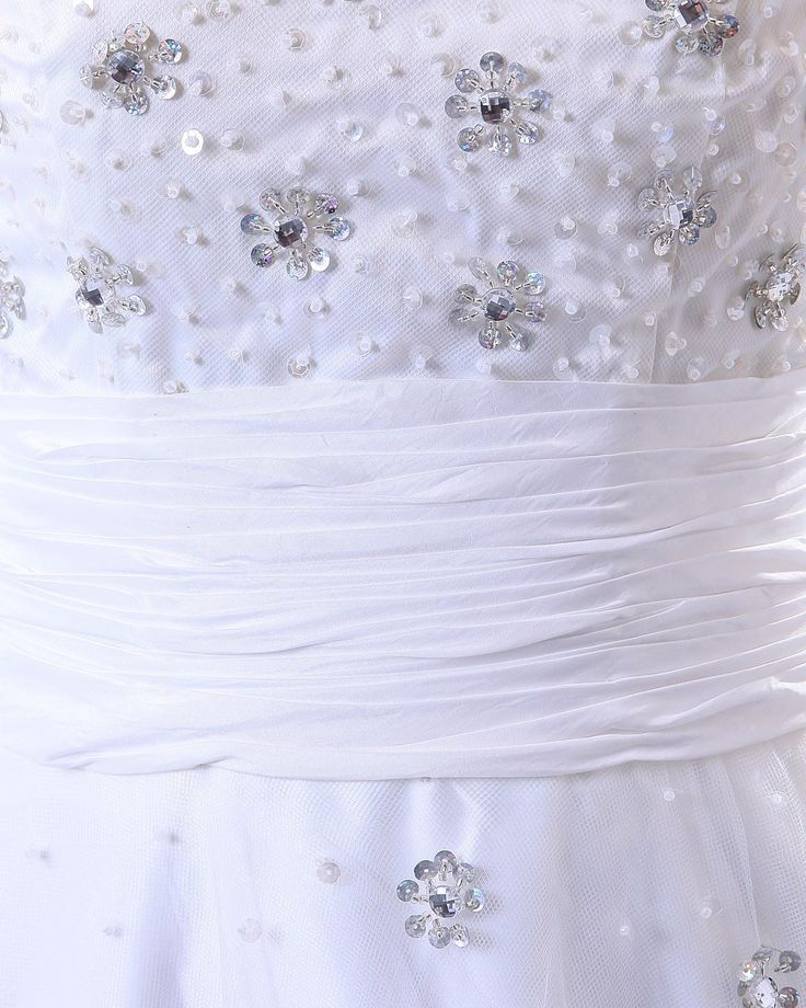 Satin Tulle Sleeveless Beading Natural Wedding Dress  Read More:    http://weddingspurple.com/index.php?r=satin-tulle-sleeveless-beading-natural-wedding-dress.html