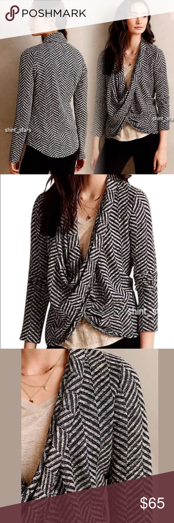 Anthropologie Dolan Crossover Chevron Top This top is gorgeous and so versatile! Great condition Anthropologie Tops