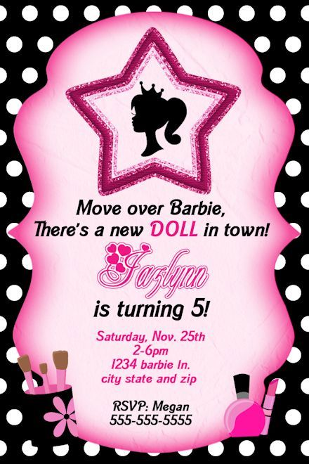 Free Printable Barbie Birthday Invitations - Ask.com Image Search