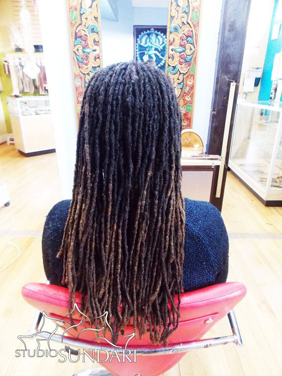 "15"" Human Hair #LOC EXTENSIONS/ #PermanentDreadExtensions/ Sisterlocs/ MicroLocs. Professionally Made by Studio Sundari #Dreadlock Salon