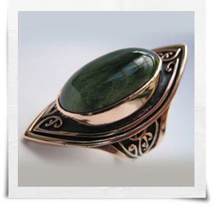 Commissioned engagement ring, rose gold, pounamu Monique Connell Jewelry http://monique.co.nz