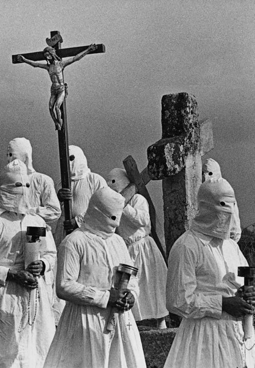 Spain. Good Friday (cropped detail), Bercianos de Aliste, Zamora, Castilla y Leon, 1970 // Rafael Sanz Lobato