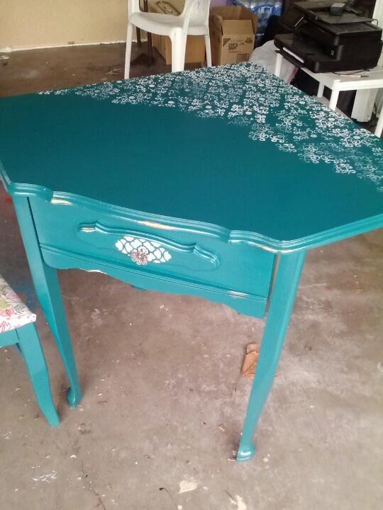 Repainted desk love it
