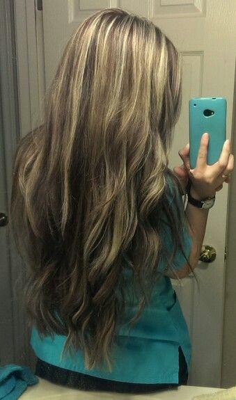 Brunette Highlights Blondes, Hairs Color Highlights, Blondes Brunette ...