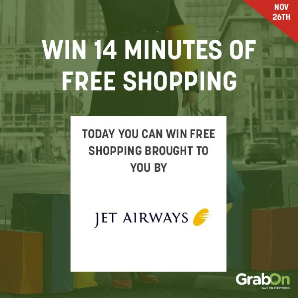 Online shoppers will be able to enjoy great savings with Google's Pre-Party sale, and shoppers can also avail 14 minutes of free shopping every day.   Win 14 minutes of FREE SHOPPING -- http://gosf.grabon.in/jetairways-gosf/