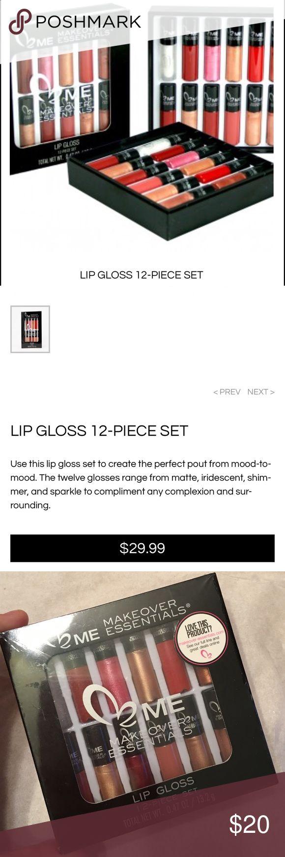 Makeover Essentials Makeup Reviews: SALE‼️NWT Makeover Essentials Lip Gloss 12 Pieces NWT