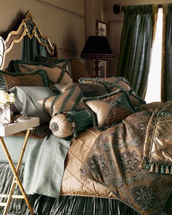 """""""Villa+di+Como""""+Bed+Linens+by+Dian+Austin+Couture+Home+at+Horchow."""