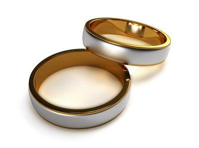 Ref: A 09. Argollas dobles en oro amarillo y blanco en oro de 18k *El precio de cada pieza esta sujeto al precio del oro a la fecha de compra y tallas correspondientes.