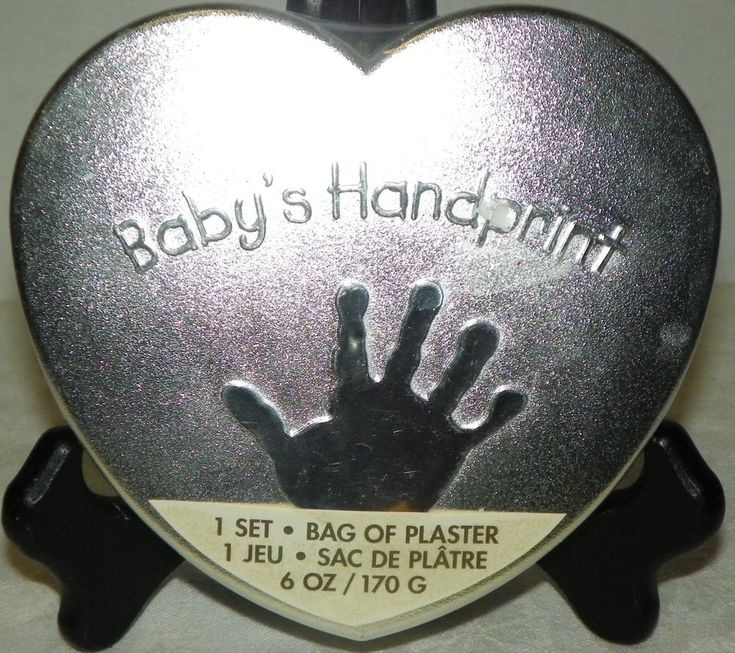 Baby Handprint Kit Keepsake Sealed Silver Tin New in Original Packaging #CRGibson