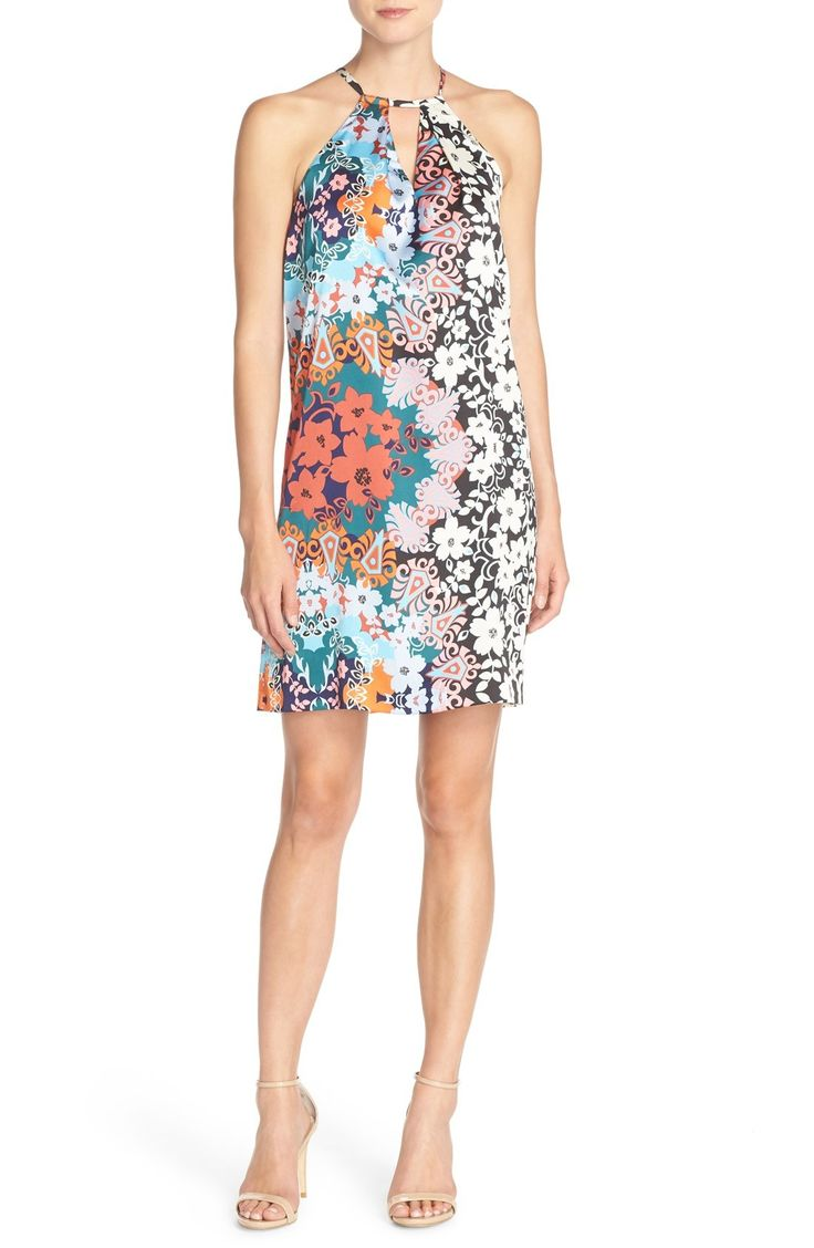 ECI Print Charmeuse Shift Dress available at #Nordstrom
