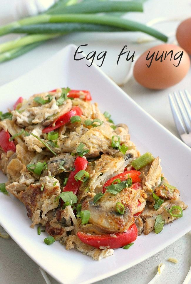 Egg fu yung - it's so easy to make Chinese take away at home!